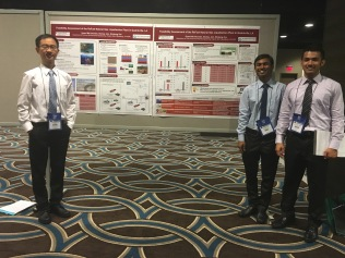 Syeed, Akshay, and Shiqiang (right to left) during the Environmental Challenge International (ECi) Competition, 2016, New Orleans, Louisiana_June 2016