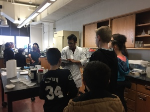 Visit of the some Middle school students in the Environmental Biotechnology and Bioenergy Lab (EBBL) at Virginia Tech, February 2017