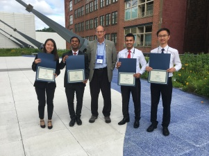 Our team 'NEW SEA' (Runner-up) in the Environmental Challenge International (ECi) competition in the Air and Waste Management Association conference, 2017