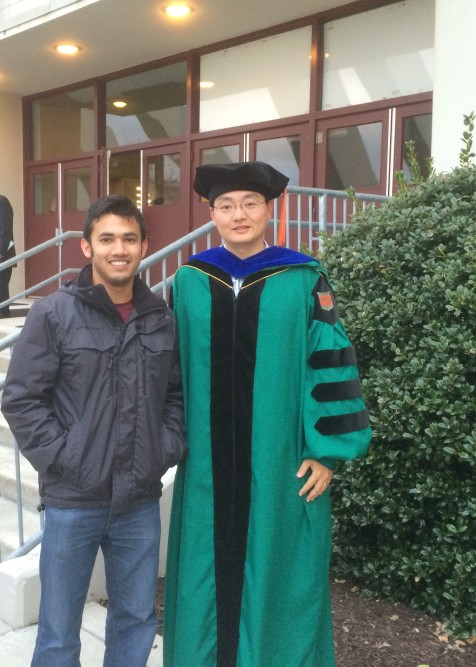 With Dr. Zhen (Jason) He_My PhD supervisor at Virginia Tech_December 2015