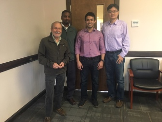 With Dr. John T. Novak, Dr. Brian Brazil, and Dr. Zhen He_After Defending My Ph.D., March 25, 2019