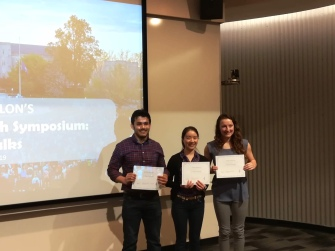 With the winners of the flash talk competition, 1st Annual Alpha Epsilon Honor Society research symposium,Virginia Tech, March 2019